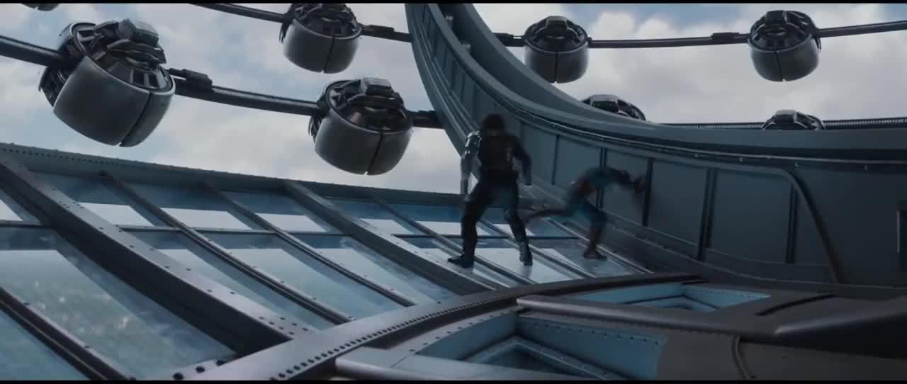 marvelstudios, Captain America Throws Bucky like a Rag Doll GIFs