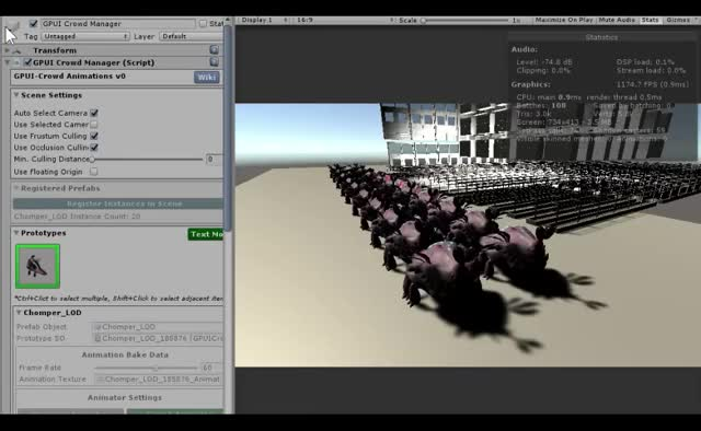 Watch and share GPU Instancer - Crowd Animations GIFs by AssetSale on Gfycat