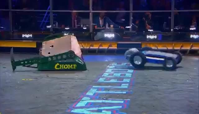 Watch and share Yeti Vs. Chomp - BattleBots GIFs on Gfycat