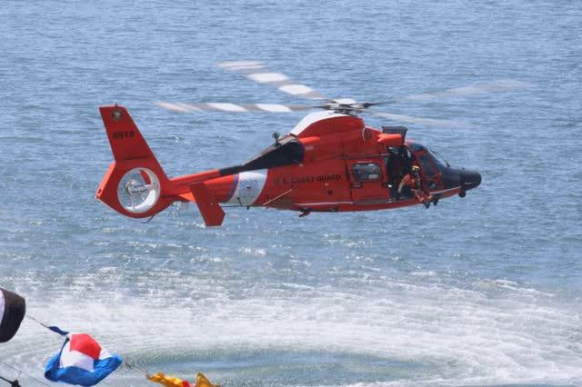Watch and share USCG MH-65 Dolphin SAR Demo Elliot Bay Seattle Seafair 2016 GIFs on Gfycat