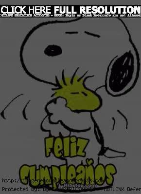 Watch and share Snoopy Emilio En Un Abrazo De Cumplea Os GIFs on Gfycat