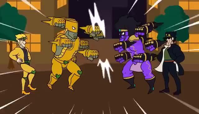 Watch and share JoJos Bizarre Whatever (JJBA Parody Cartoon) GIFs on Gfycat