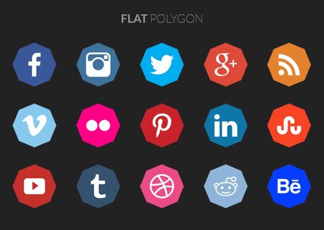 Watch and share Polygon Social Media Icons Free GIFs on Gfycat