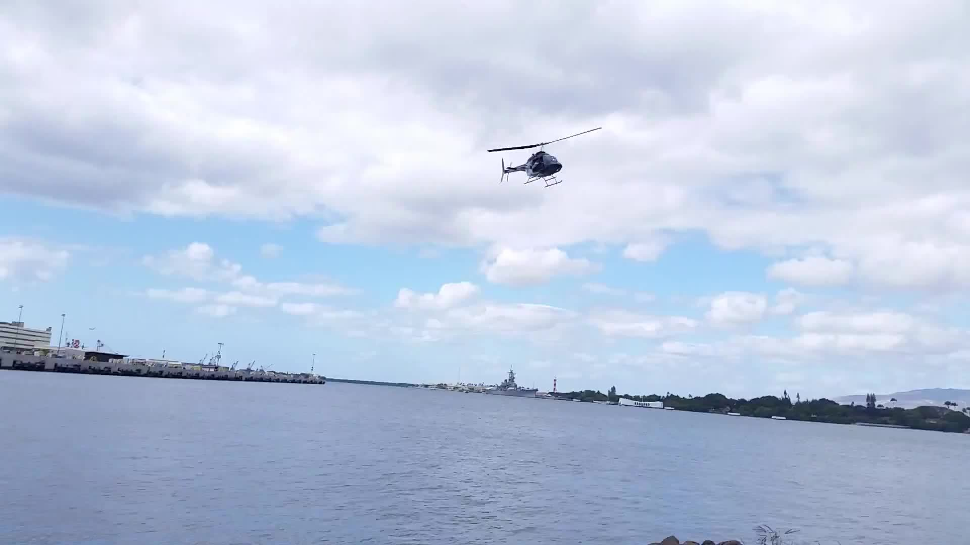 Helicopter Crash Pearl Harbor 2/18/16 10:15 am Eyewitness GIFs