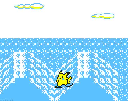 Watch and share Surf Pikachu GIFs on Gfycat