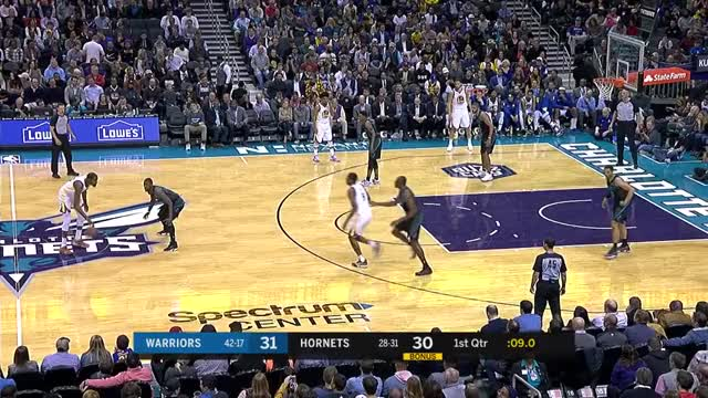 Watch this basketball GIF by @dkurtenbach on Gfycat. Discover more basketball, charlotte hornets, golden state warriors, hornets, warriors GIFs on Gfycat
