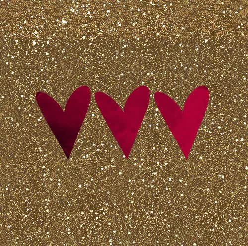 Watch and share Pink Red Hearts On Gold Glitter Animated GIFs on Gfycat