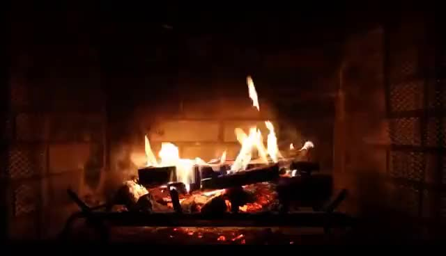 Watch and share Virtual Fireplace With Crackling Fire Sounds (Full HD) GIFs on Gfycat