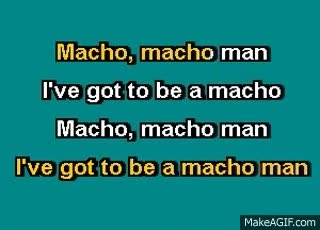 Watch and share KB 288 Best Of 70's I   The Village People   Macho Man Karaoke GIFs on Gfycat