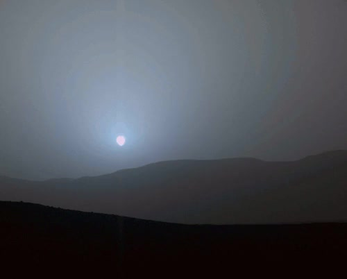 Watch Red planet. Blue sunsets. GIF on Gfycat. Discover more Curiosity, GIF, JPL, MSL, Mars, NASA, bluesunset, sunset GIFs on Gfycat