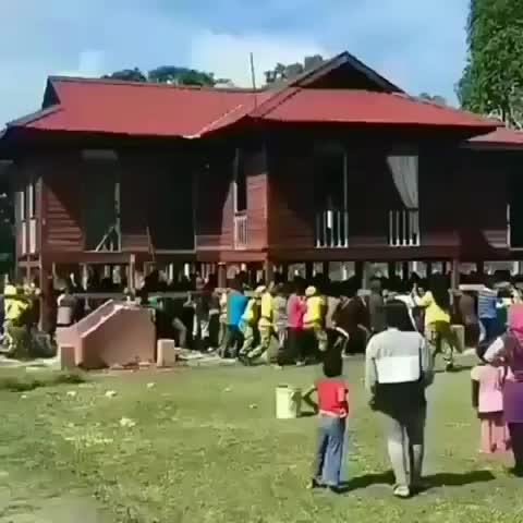 Neighbors move entire house GIFs