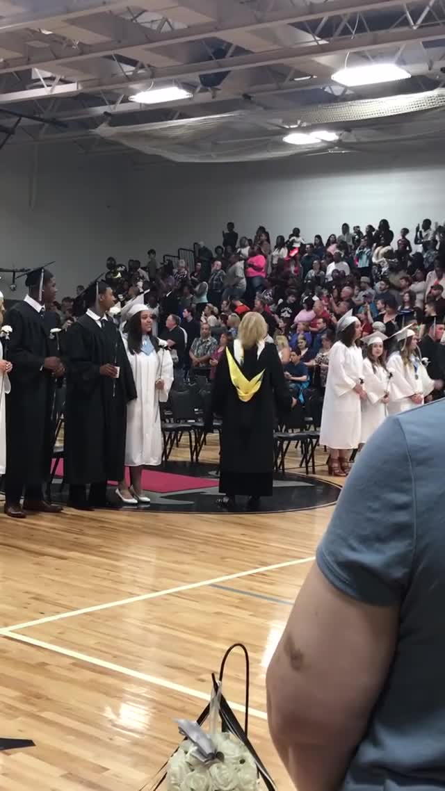 Watch Returning Soldier Surprises Little Sister at Graduation GIF by natsdorf (@natsdorf) on Gfycat. Discover more deployment, family, graduation, high school graduation, homecoming, military, news, storyful, suprise, viral GIFs on Gfycat