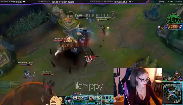When Lilchiipmunk Play - Katarina Main | League of Girls