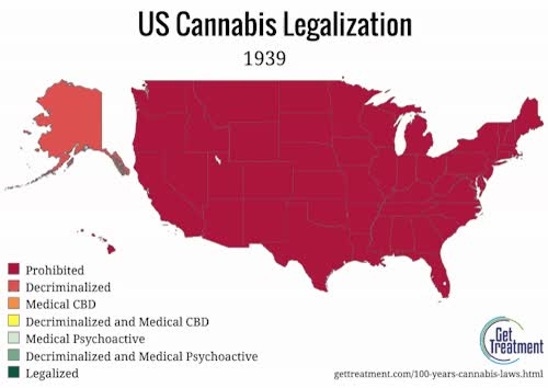 Watch Cannabis laws, 1939-2016 GIF on Gfycat. Discover more related GIFs on Gfycat