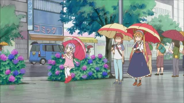 Watch and share Ame Ame Ame - Kobayashi-san Chi No Maid Dragon GIFs on Gfycat