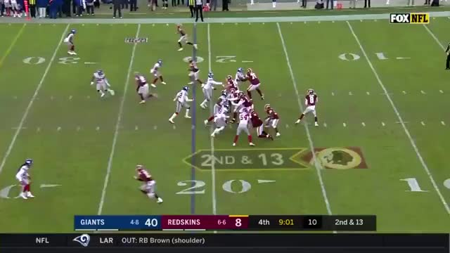 Josh Johnson, who was just signed by the Redskins this week, throws a 79-yard touchdown to Jamison Crowder