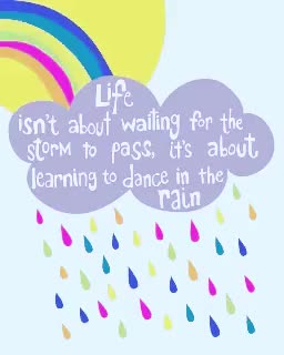 Watch and share Dancing In The Rain GIFs and Love Your Life GIFs on Gfycat
