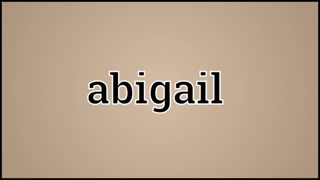 Watch and share Abigail Definition GIFs and Abigail Meaning GIFs on Gfycat