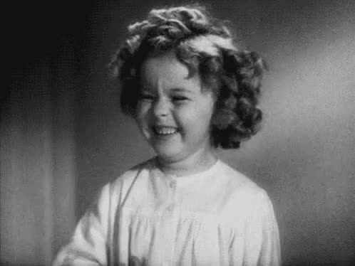 adorable, awww, cute, funny, giggle, haha, laughing, lol, shirley temple, Shirley Temple Giggling GIFs
