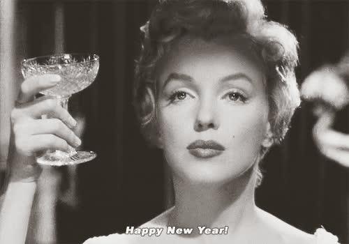 Happy New Year, holiday, marilyn monroe, new year, new years, Happy New Year GIFs
