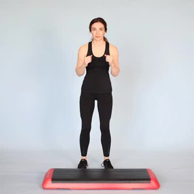Watch and share 400x400 Step Aerobics Basic Right GIFs by Healthline on Gfycat