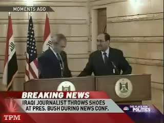 Watch Bush Dodges Shoes Thrown by Iraqi Journalist GIF on Gfycat. Discover more related GIFs on Gfycat