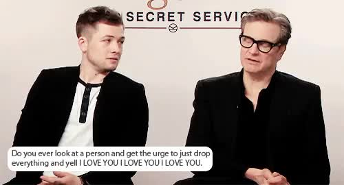 Watch and share He Can't Help It GIFs and Taron Egerton GIFs on Gfycat