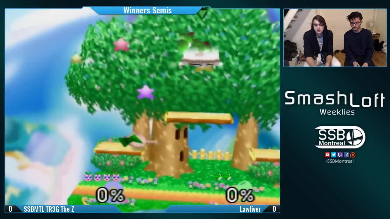 smash bros, ssb, ssb64, SSBMTL TR3G The Z (Jigglypuff) vs Lawliver (Yoshi, Pikachu) - Winners Semis - SL SSB64 Weekly #71 GIFs