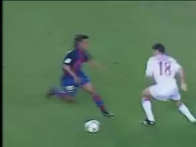 Watch and share Ronaldinho GIFs and Barcelona GIFs on Gfycat
