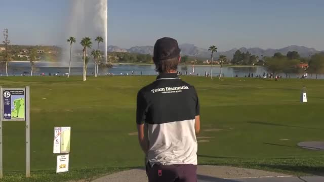 Watch Round One 2019 Memorial Championship - Eagle McMahon hole 17 drive GIF by Benn Wineka UWDG (@bennwineka) on Gfycat. Discover more Sports, dgpt, disc golf, disc golf pro tour GIFs on Gfycat