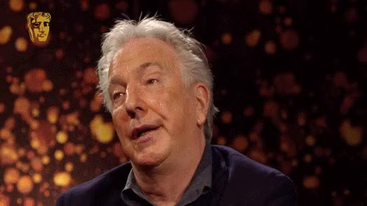Watch and share Alan Rickman GIFs by Twitter on Gfycat