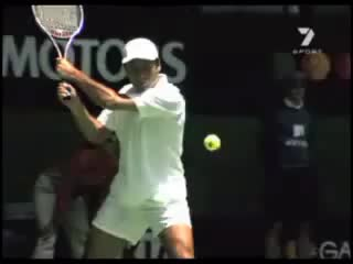 Fabrice Santoro Double Handed Forehand Slice GIFs