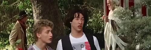 Watch Margflower Productions GIF on Gfycat. Discover more Bill and Ted's Excellent Adventure, alex winter, bill and ted, billy the kid, gifs, keanu reeves, my gifs, socrates GIFs on Gfycat