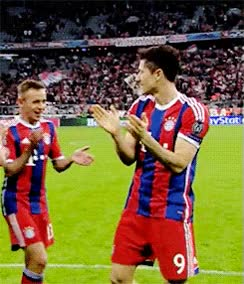 Watch and share Robert Lewandowski, Fc Bayern, Bayern Munich, Rafinha, Mine, Rafa Pls GIFs on Gfycat