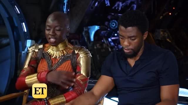 Watch 'Avengers: Infinity War': Chadwick Boseman and Danai Gurira (FULL INTERVIEW) GIF on Gfycat. Discover more All Tags, Hollywood, Marvel, Okoye, Thanos, Thor, celebrity, celebs, et, etonline, mcu, movies, shuri, wakanda GIFs on Gfycat