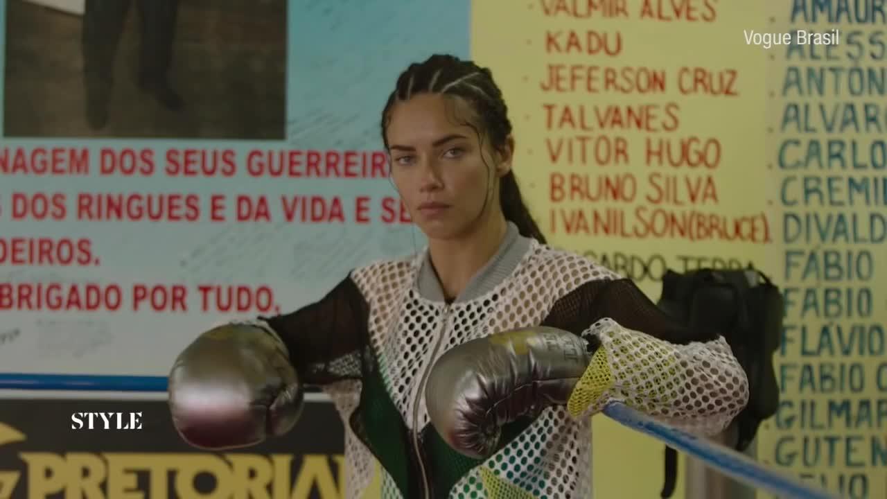 Adriana Lima, Badass girls, Badass women, Boxing, Sexy, Adriana Lima Boxer GIFs