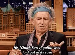 "Watch Jimmy: ""Why would Chuck Berry punch Keith Richards?"" Keith:  GIF on Gfycat. Discover more 500, chuck berry, d10, gmem, interview, jimmy fallon, keith richards, requested, rocknroll-music7, stonesedit, the rolling stones, the tonight show with jimmy fallon, tonight show reblogged this GIFs on Gfycat"