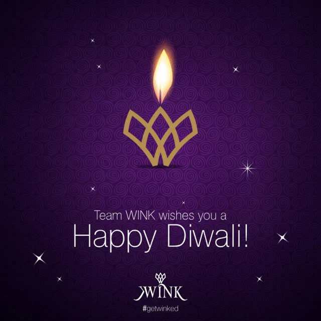 Watch and share Wink-diwali GIFs on Gfycat