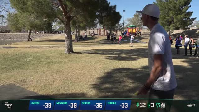 Watch 2018 Memorial Championship | Final Rd, Lead Card, B9 | Lizotte, McMahon, Sexton, Conrad GIF by Ultiworld Disc Golf (@ultiworlddg) on Gfycat. Discover more disc golf, discmania, eagle mcmahon, innova discs, jomez, simon lizotte GIFs on Gfycat
