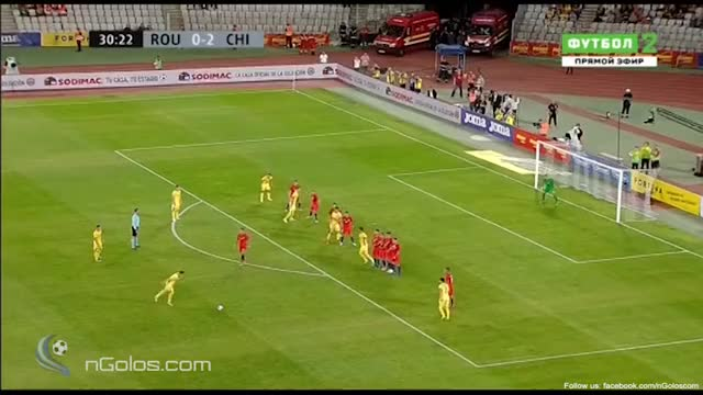 Watch and share (www.nGolos.com) Romania 1-2 Chile - Stancu 31' (Great Free-Kick) GIFs on Gfycat