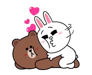 Watch Brown Cony GIF on Gfycat. Discover more Brown, Cony, Cuddle GIFs on Gfycat