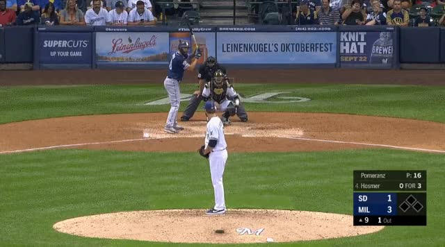 Watch and share Milwaukee Brewers GIFs and San Diego Padres GIFs by _ben_clemens on Gfycat
