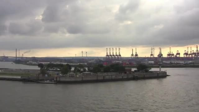Watch The Port of Hamburg and Journey North on the River Elbe, Germany - 14th September, 2014 GIF on Gfycat. Discover more germany GIFs on Gfycat