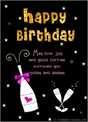 Watch and share Birthday Card Black Champagne And Flutes GIFs on Gfycat