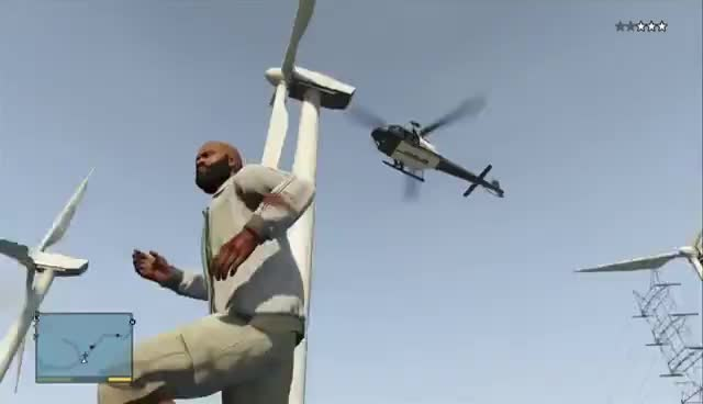 GTAV, Grand theft auto v, helicopter, windfarm, GTAV Helicopter Windfarm GIFs