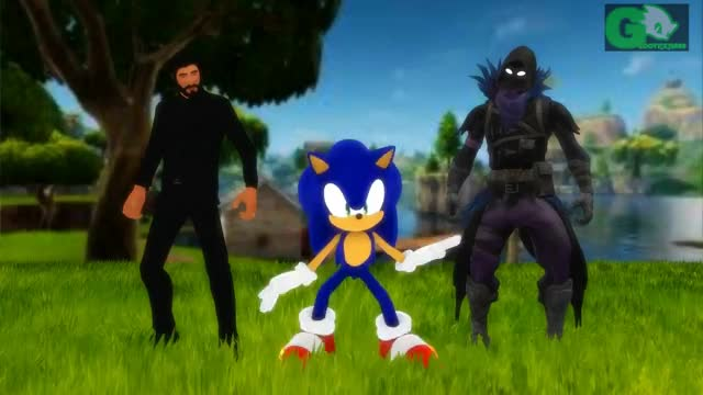 Watch Sonic's Fortnite Dance Emote w/ John Wick and Raven Quill GIF on Gfycat. Discover more GamePlay, MMD, Ninja, PC, PS4, animation, challenge, dancing, e-mote, epic, fortnite, fun, games, hype, sega, shadow, sigh, sonic GIFs on Gfycat