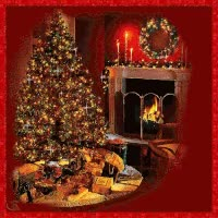 Watch and share Christmas Fireplace With Stockings GIFs on Gfycat