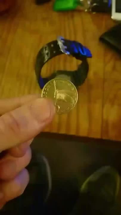 perfectfit, A New Zealand 2 dollar coin pops perfectly into the back of my watch (reddit) GIFs