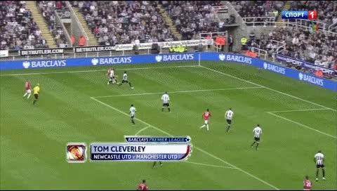 Watch and share Tom Cleverley. Newcastle - MU. 2012 GIFs by fatalali on Gfycat
