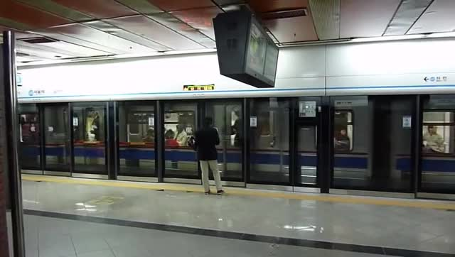 Watch Platform Screen Doors at Metro Line 4 Seoul Station GIF on Gfycat. Discover more metro, seoul, subway GIFs on Gfycat